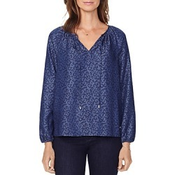 Nydj Leopard Print Peasant Top found on Bargain Bro Philippines from bloomingdales.com for $53.40