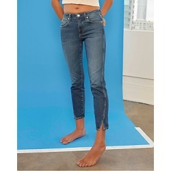 Amo Twist Split-Cuff Jeans in Dark Vintage found on MODAPINS from bloomingdales.com for USD $255.00