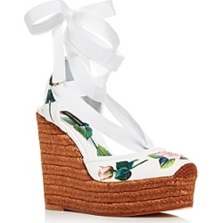 Dolce & Gabbana Women's 100 Floral Espadrille Ankle-Tie Wedge Sandals found on Bargain Bro India from Bloomingdale's Australia for $540.58