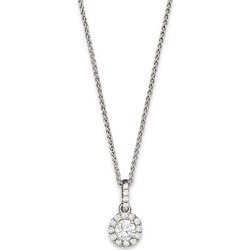 Halo Diamond Solitaire Pendant Necklace in 14K White Gold, 0.50 ct. t.w. - 100% Exclusive found on Bargain Bro UK from Bloomingdales UK