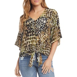 Karen Kane Printed Tie-Front Top found on Bargain Bro Philippines from bloomingdales.com for $83.30