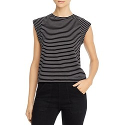 Frame Le High Rise Striped Muscle Tee