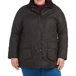 Barbour Plus Beadnell Waxed Cotton Corduroy-Collar Coat found on MODAPINS from bloomingdales.com for USD $450.00
