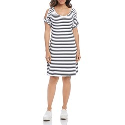 Karen Kane Striped Cold-Shoulder Tee Dress found on Bargain Bro India from bloomingdales.com for $118.00