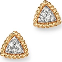 Bloomingdale's Diamond Triangle Stud Earrings with 14K Yellow Gold, 0.14 ct. t.w. - 100% Exclusive found on Bargain Bro India from bloomingdales.com for $1300.00
