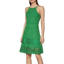 Bcbgmaxazria Crochet Knit A-Line Dress