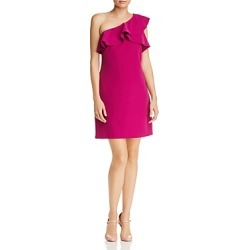 Laundry by Shelli Segal One-Shoulder Ruffled Dress found on Bargain Bro India from bloomingdales.com for $66.24