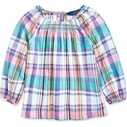 Polo Ralph Lauren Girls' Cotton Madras Plaid Top - Big Kid found on Bargain Bro India from bloomingdales.com for $24.99