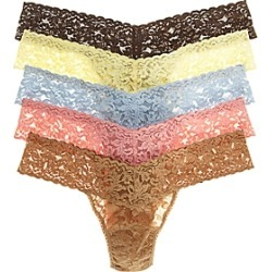 Hanky Panky Signature Low-Rise Thongs, Set of 5 found on Bargain Bro Philippines from bloomingdales.com for $98.00