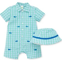 Little Me Boys' Whale Cotton Romper & Hat Set - Baby found on Bargain Bro India from bloomingdales.com for $32.00