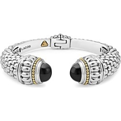 Lagos 18K Gold and Sterling Silver Caviar Color Onyx Cuff, 14mm found on Bargain Bro Philippines from Bloomingdales Canada for $1213.10