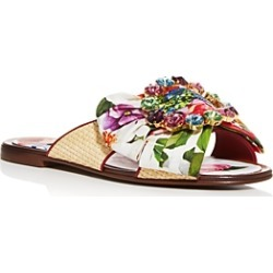 Dolce & Gabbana Women's Bianca Abaya Crystal Embellished Slide Sandals found on Bargain Bro India from Bloomingdale's Australia for $732.51