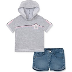 Joe's Jeans Girls' Hooded Tee & Denim Shorts Set - Little Kid found on Bargain Bro India from bloomingdales.com for $29.40