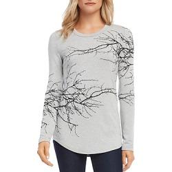 Karen Kane Long-Sleeve Tree-Print Tee