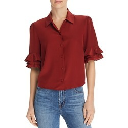 Frame Ruffle-Sleeve Silk Blouse found on Bargain Bro India from bloomingdales.com for $285.00