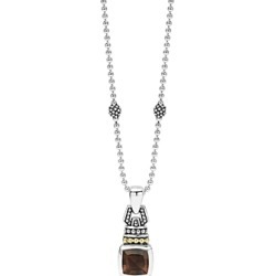 Lagos 18K Gold and Sterling Silver Caviar Color Pendant Necklace with Smoky Quartz, 16 found on Bargain Bro India from Bloomingdales Canada for $414.31