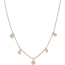 Diamond Charm Necklace in 14K Rose Gold, .30 ct. t.w. - 100% Exclusive found on Bargain Bro UK from Bloomingdales UK