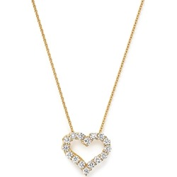 Diamond Heart Pendant Necklace in 14K Yellow Gold, .25 ct. t.w. - 100% Exclusive found on Bargain Bro UK from Bloomingdales UK