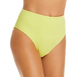 Jonathan Simkhai Cora Solid High Waist Bikini Bottom found on MODAPINS from Bloomingdale's Australia for USD $100.69