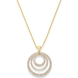 Bloomingdale's Diamond Circle Pendant Necklace in 14K Yellow Gold, 2.0 ct. t.w. - 100% Exclusive found on Bargain Bro UK from Bloomingdales UK