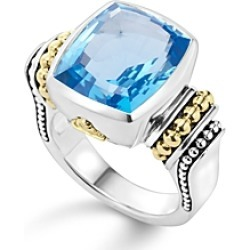 Lagos 18K Gold and Sterling Silver Caviar Color Medium Ring with Swiss Blue Topaz found on Bargain Bro India from Bloomingdales Canada for $1311.13