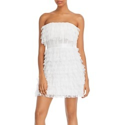 Bcbgmaxazria Strapless Tiered Lace Dress found on MODAPINS from Bloomingdales UK for USD $296.73
