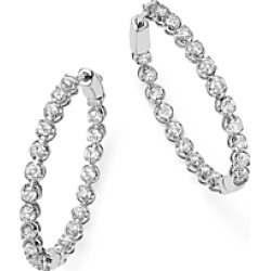 Bloomingdale's Diamond Inside Out Hoop Earrings in 14K White Gold, 3.0 ct. t.w. - 100% Exclusive found on Bargain Bro Philippines from Bloomingdales Canada for $3195.47