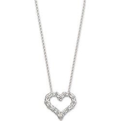 Diamond Heart Pendant Necklace in 14K White Gold, 0.25 ct. t.w. - 100% Exclusive found on Bargain Bro UK from Bloomingdales UK