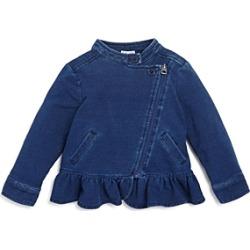 Splendid Girls' Denim-Look Knit Jacket - Baby