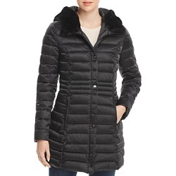 Laundry by Shelli Segal Mercury Puffer Coat with Faux Fur Trimmed Hood