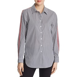 Calvin Klein Pinstriped Button-Down Top found on Bargain Bro India from bloomingdales.com for $79.50
