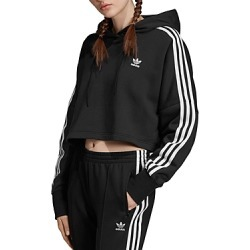 Adidas Triple Stripe Cropped Hooded Sweatshirt found on Bargain Bro India from bloomingdales.com for $65.00