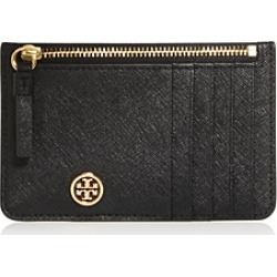 Tory Burch Robinson Leather Zip-Top Card Case found on Bargain Bro UK from Bloomingdales UK