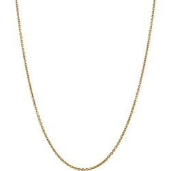 Bloomingdale's 14K Yellow Gold 2.2mm Solid Polished Cable Chain Necklace, 16 - 100% Exclusive found on Bargain Bro Philippines from Bloomingdales Canada for $610.25