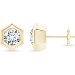 Natori 14K Yellow Gold Diamond Hexagon Stud Earrings found on Bargain Bro India from bloomingdales.com for $4560.00