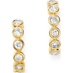 Bloomingdale's Bezel-Set Diamond J-Hoop Earrings in 14K Yellow Gold, 0.30 ct. t.w. - 100% Exclusive found on Bargain Bro UK from Bloomingdales UK