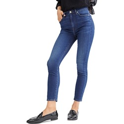 7 For All Mankind High Waist Skinny Ankle Jeans in B(air) Silk Catalina found on Bargain Bro from Bloomingdales Canada for USD $110.96