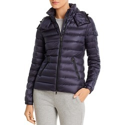 Moncler Bleu Hooded Down Coat