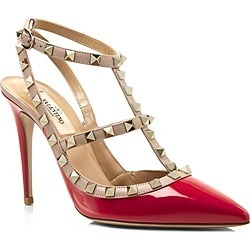 Valentino Garavani Women's Rockstud Leather T-Strap High-Heel Pumps found on Bargain Bro India from bloomingdales.com for $995.00