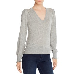 La Vie Rebecca Taylor Ruffle-Cuff V-Neck Sweater - 100% Exclusive found on Bargain Bro Philippines from bloomingdales.com for $175.00