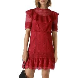 Whistles Mariah Ruffled Lace Mini Dress found on Bargain Bro UK from Bloomingdales UK