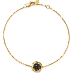 Bloomingdale's Onyx Swirl Station Bracelet in 14K Yellow Gold - 100% Exclusive found on Bargain Bro Philippines from Bloomingdales Canada for $211.34