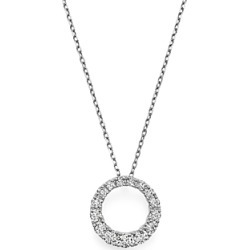 Bloomingdale's Diamond Open Circle Pendant Necklace in 14K White Gold, 0.50 ct. t.w. - 100% Exclusive found on Bargain Bro UK from Bloomingdales UK
