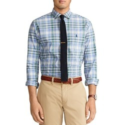 Polo Ralph Lauren Classic Fit Plaid Poplin Button Down Shirt found on Bargain Bro India from bloomingdales.com for $68.95