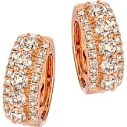 Bloomingdale's Champagne Diamond Classic Hoop Earrings in 14K Rose Gold, 3.31 ct. t.w. - 100% Exclusive found on Bargain Bro Philippines from Bloomingdale's Australia for $11642.92