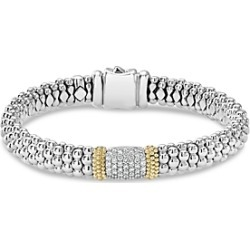 Lagos 18K Gold & Sterling Silver Diamond Lux Pave Station Bracelet, 10mm found on Bargain Bro India from Bloomingdales Canada for $2884.48
