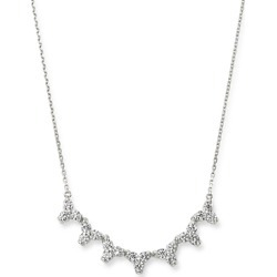 Bloomingdale's Diamond Three Stone Bar Necklace in 14K White Gold, 1.0 ct. t.w. - 100% Exclusive found on Bargain Bro UK from Bloomingdales UK