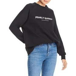 No Frills by Mother of Pearl Oversized Pearly Queen Pullover Sweatshirt