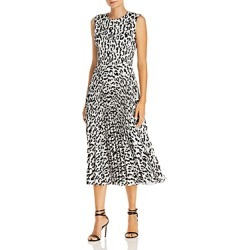 Jason Wu Leopard Print Pleated Midi Dress found on MODAPINS from bloomingdales.com for USD $638.00