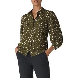 Whistles Shadow-Spot Print Shirt found on Bargain Bro UK from Bloomingdales UK